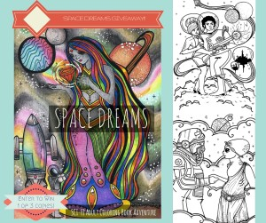 Space Dreams Adult Coloring Book Giveaway
