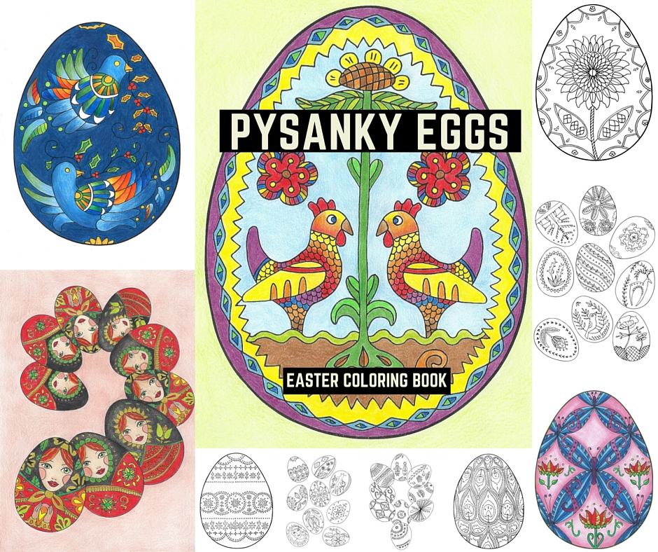 Pysanky Eggs Easter Coloring Book