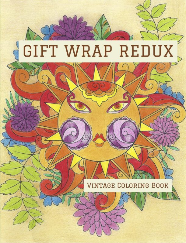 Gift Wrap Redux: Vintage Coloring Book